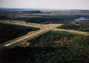 aerial view of Mid-State Airport